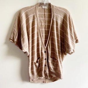 Wallace Madewell cardigan brown striped wool